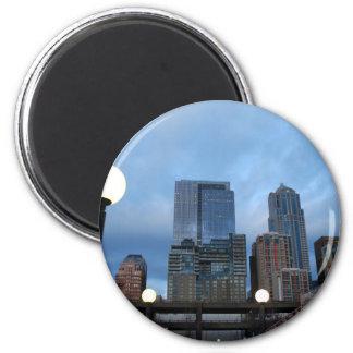 CityscapeEvening041609 Refrigerator Magnet