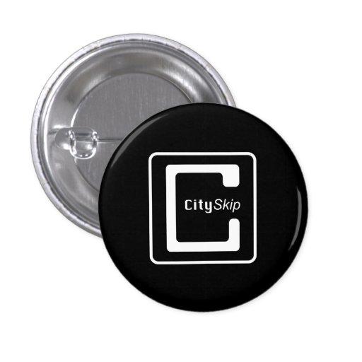 CitySkip Buttons (On Black)