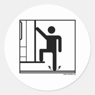 CitySkip Round Sticker (Evacuation Instructions)