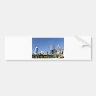 CitySkyline051709 Pegatina De Parachoque