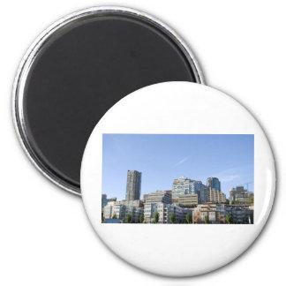 CitySkylineb051709 2 Inch Round Magnet