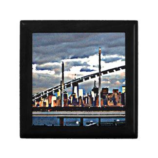 CityView Art - Staten Island Manhattan Skyscrapers Keepsake Box