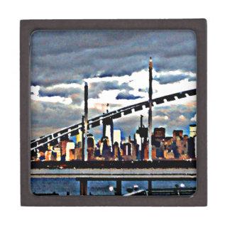 CityView Art - Staten Island Manhattan Skyscrapers Premium Keepsake Box