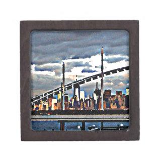 CityView Art - Staten Island Manhattan Skyscrapers Premium Jewelry Box