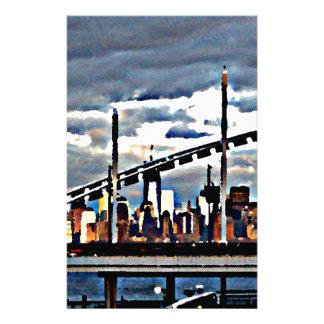 CityView Art - Staten Island Manhattan Skyscrapers Stationery