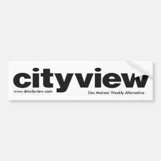 cityview LOGO black, Des Moines' Weekly Alterna... Car Bumper Sticker
