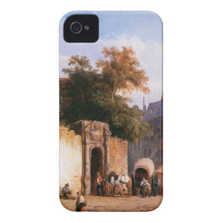 Cityview wiith marketstall by Cornelis Springer Case-Mate iPhone 4 Case