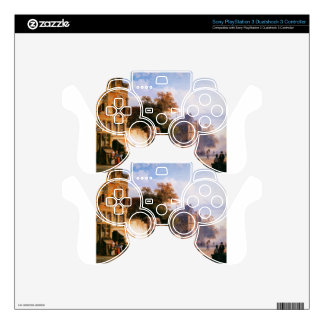 Cityview wiith marketstall by Cornelis Springer Decal For PS3 Controller