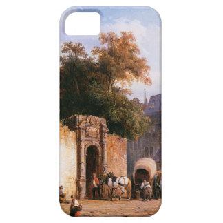Cityview wiith marketstall by Cornelis Springer iPhone SE/5/5s Case