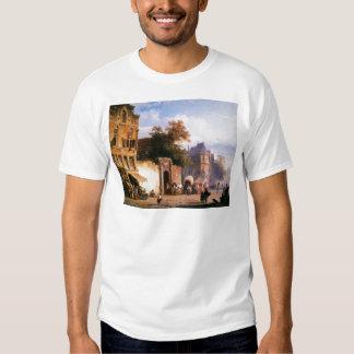 Cityview wiith marketstall by Cornelis Springer T Shirt