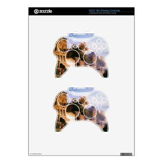 Cityview wiith marketstall by Cornelis Springer Xbox 360 Controller Skin