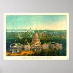 Ciudad 1869 de Washington Impresiones