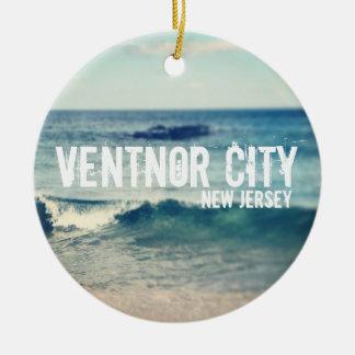 Ciudad 2013 de Ventnor - recuperación en la orilla Adorno Redondo De Cerámica