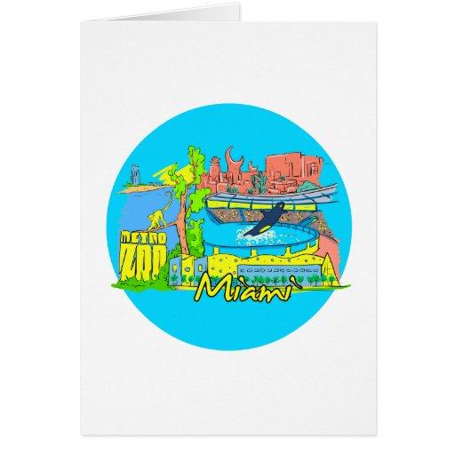 ciudad 2 travel.png de Miami la Florida Tarjeta De Felicitación