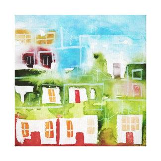 Ciudad 4 canvas print