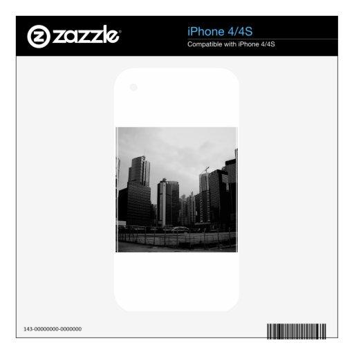 Ciudad abandonada ciudad abstracta calcomanías para el iPhone 4S