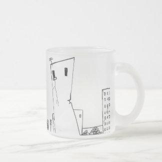 ciudad abandonada taza cristal mate