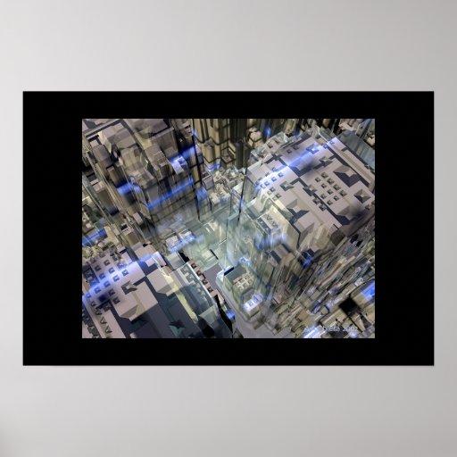 Ciudad abstracta impresiones