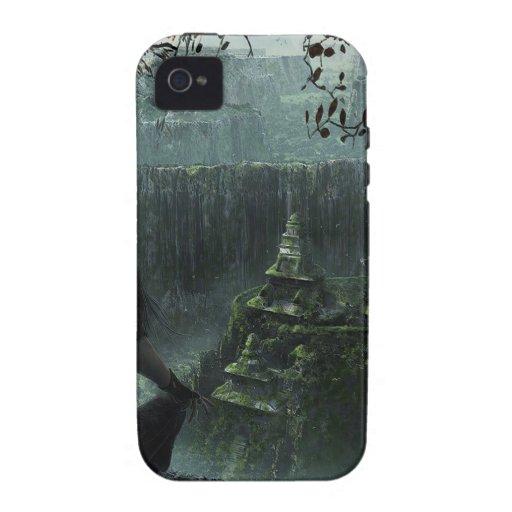 Ciudad abstracta ocultada Case-Mate iPhone 4 carcasa