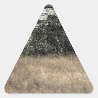 Ciudad abstracta Verlassenes Haus Calcomanías De Trianguladas