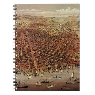 Ciudad aérea antigua San Francisco, California del Notebook