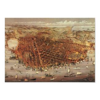 Ciudad aérea antigua San Francisco, California del Invitación 12,7 X 17,8 Cm
