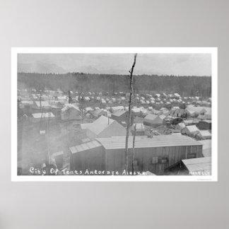 Ciudad Anchorage, Alaska 1905 de la tienda Póster