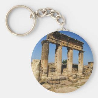 Ciudad antigua de Hierapolis - un centro pagano de Llavero Redondo Tipo Pin