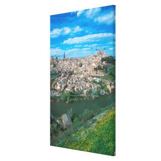 Ciudad antigua de Toledo, España Impresión En Lienzo Estirada