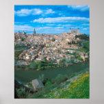 Ciudad antigua de Toledo, España Póster