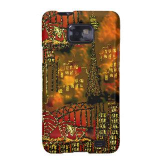 Ciudad ardiente Sydney del arte abstracto de la Samsung Galaxy S2 Fundas