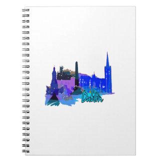 ciudad azul graphic.png de Dublín Irlanda Libreta Espiral