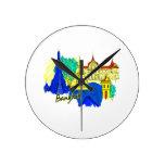 ciudad azul graphic.png del viaje de Bangkok Reloj De Pared