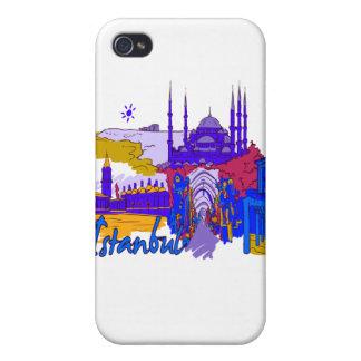 ciudad azul image.png de Estambul iPhone 4 Fundas