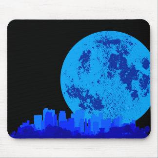 Ciudad azul mouse pads