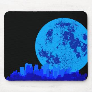 Ciudad azul tapetes de ratón