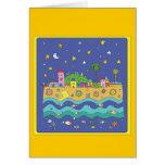 Ciudad azul tarjeta