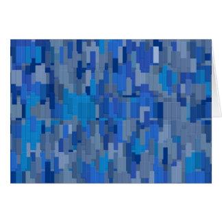 Ciudad azul tarjeta de felicitación