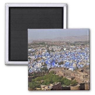 Ciudad azul vista del fuerte/de Jodhpur de Mehrang Imán Cuadrado