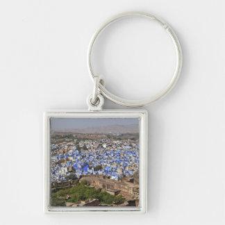 Ciudad azul vista del fuerte/de Jodhpur de Mehrang Llaveros