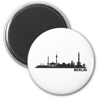 Ciudad Berlín - horizonte 1c Imán Redondo 5 Cm