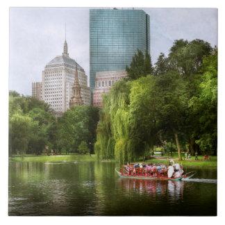 Ciudad - Boston mA - jardín público de Boston Azulejo Cuadrado Grande