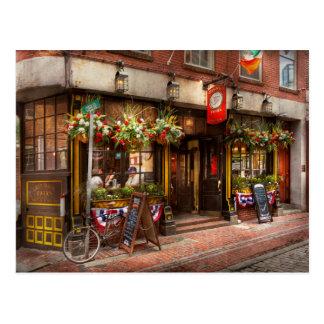 Ciudad - Boston mA - la taberna del dragón verde Tarjeta Postal