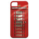 Ciudad británica del SE rojo del iPhone de la iPhone 5 Carcasas