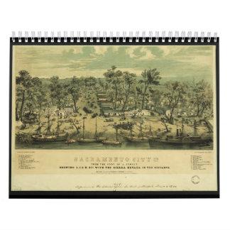 Ciudad California de Sacramento en 1849 por los Calendarios De Pared