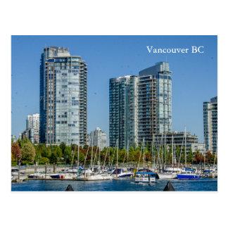 Ciudad cerca de la playa Vancouver A.C. Postales