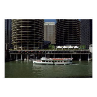 Ciudad Chicago del puerto deportivo Posters