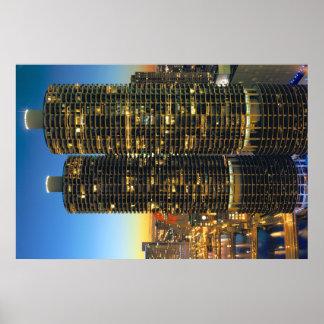 Ciudad Chicago del puerto deportivo Poster