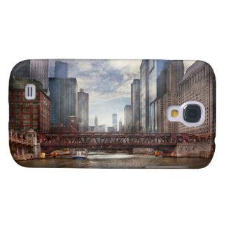 Ciudad - Chicago, IL - mirando hacia el futuro Carcasa Para Galaxy S4