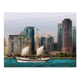 Ciudad - Chicago IL - que cruza en Chicago Tarjetas Postales